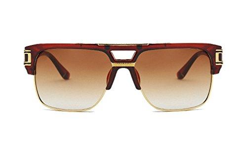 NEW ARRIVAL FANDIA Men and women box retro bright color reflective - On Low Quay The Sunglasses