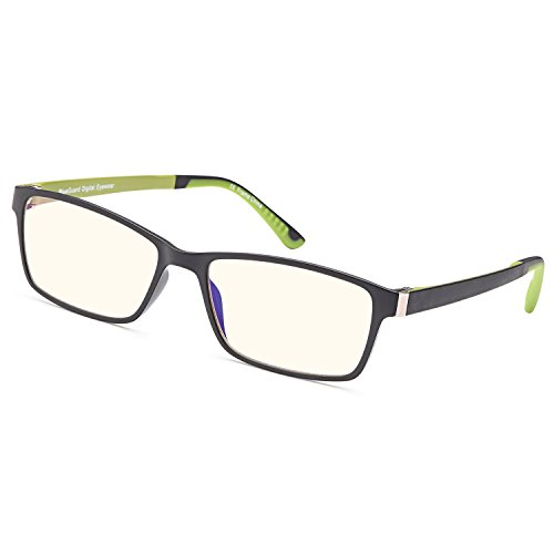 Trust Optics RX Grooved Optical Quality Glasses Frames Prescription Ready Rx-able Premium Eyeglasses w Anti UV400 Anti Harmful Blue Light Lens in Black