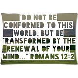 Bible Verses Scripture Design Custom Zippered Pillow Case 20×30 (Two sides)