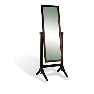 The Furniture Cove New Cappuccino Espresso Standing Cheval Floor Mirror -  - mirrors-bedroom-decor, bedroom-decor, bedroom - 312Mmxa5oUL. SS400  -