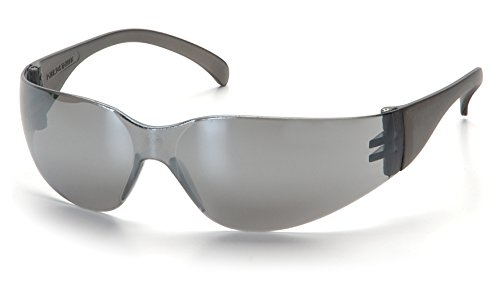 Pyramex Intruder Safety Eyewear, Silver Mirror Frame, Silver Mirror-Hardcoated - Protective Just Glasses As Sunglasses Safety Are As