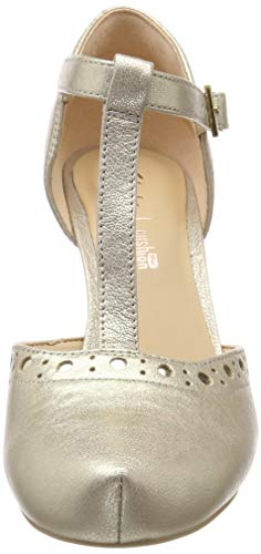 champagne Dalia Leah Femme Clarks Argenté Leather Escarpins BX7wxFgq