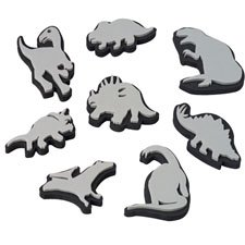 Constructive Playthings Jumbo Ink Dinosaur Stampers Set of 8 Sizes 2