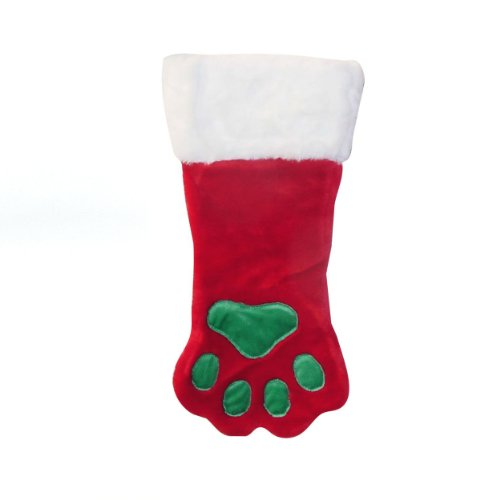 - Outward Hound Kyjen  30016 Christmas Paw Dog Stocking  Holiday and Christmas Accessories For Dogs, Large, Red, Red