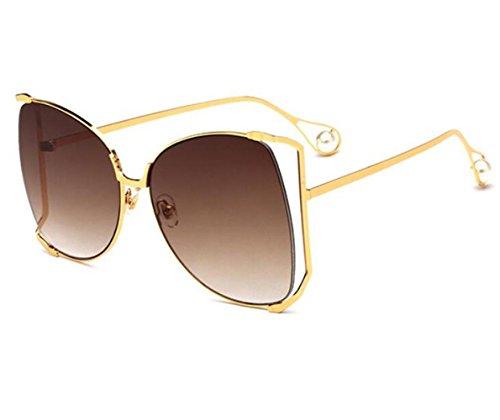 metal sol multicolor de mujer gafas y estilo lentes sol para marco irregulares americano uv400 de europeo d RDJM e de Gafas Opcional qfUxa7waO4