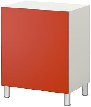 IKEA BESTA - Estantería con puerta, blanco, naranja ...