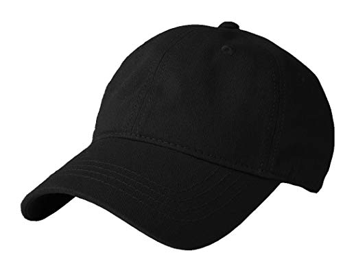 (Kids Baseball Hat Solid Cotton - Unstructured Dad Sun Hat Fit for 1-10 Years (Black,4_10yrs(52cm)))