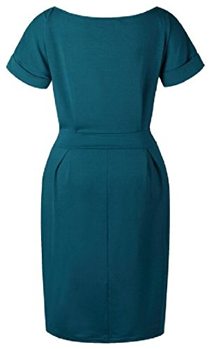 3 Length Dress Knee Summer Party 4 Sleeve Jaycargogo 2 Pencil Women PxwpC5Cq