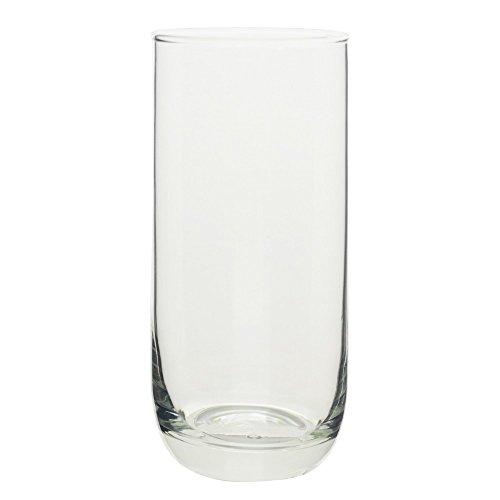 10 Strawberry Street Ocean Glass - Koria 21 Oz Cooler, Set of 6, Clear Glass