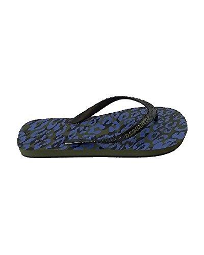 Dsquared2 Homme S17BX101172M1130 Bleu Caoutchouc Tongs