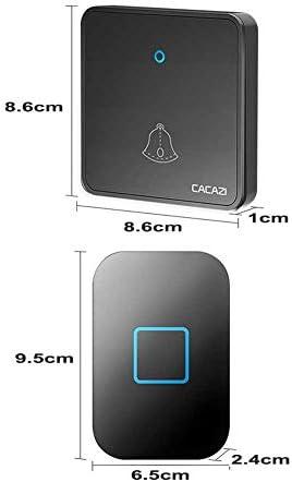 ウォールプラグインコードレスドアチャイム、1000フィートレンジのポータブル電動ドアベルキット、60トーン5ボリュームレベル1プッシュボタンと2レシーバー,白