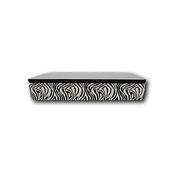 Ventadecolchones - Canapé Modelo Serena Gran Capacidad tapizado en Zebra Blanco Negro Medidas 135 x 200 cm: Amazon.es: Juguetes y juegos