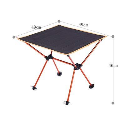 Ergonomic Foldable Table Folding Camping Desk Portable Outdoor 7075 Al Alloy Ultralight Tables 600 D Oxford Anti-Slip Furniture SC23800OR