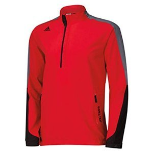 adidas Golf Men's Gore - Tex 2-Layer 1/2 Zip Jacket, Bold Red/Black/Onyx, Medium by adidas