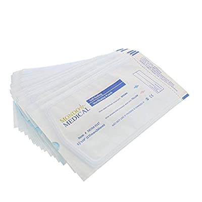 MonMed Self Seal Sterilization Pouches - 5.25 x 10 Inch Medical and Dental Sterilizer Bags, 200Pc Autoclave Pouch Pack