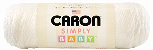 Caron Simply Baby Solid Yarn, 3.5 Ounce, White, Single Ball by Caron
