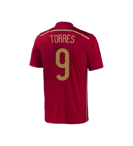 adidas Torres #9 Spain Home Jersey World Cup 2014 Youth (YXL) Red