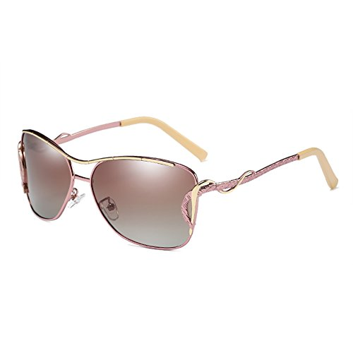 HDCRAFTER Fashion Women Outdoor UV400 Polarized Cat Eye Sunglasses Metal - Polarized Sale Sunglasses