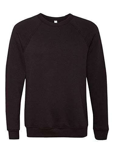 (Bella + Canvas Unisex Sponge Fleece Crew Neck Sweatshirt (Black) (L))