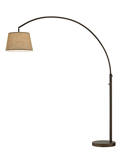 Artiva USA LED602111FBZ Allegra LED Arch Floor Lamp with Dimmer, 48 L x 16W x 79 H, Antique Bronze