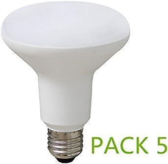 Bombilla LED E27 R63 9W (Pack 5) Blanco Frío 6000k Ángulo 120º ...
