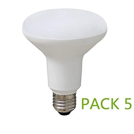 Bombilla LED E27 9W R63 (Pack 5) Luz Cálida 2700k-3200k Ángulo 120º: Amazon.es: Iluminación