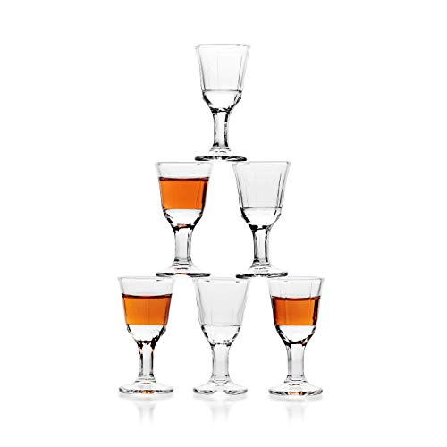 11ml 0.4oz Unique Mini Wine Shot Glasses Set of 6 REATR Sake Glass Set Chinese Liquor Spirit Baijiu Sake Glass Cup Clear Alcohol Giftware Mini Shot Glass With Stem Small Drinking Glass Gift Mini Glass