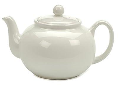 RSVP White 6 cup Stoneware Chai Teapot