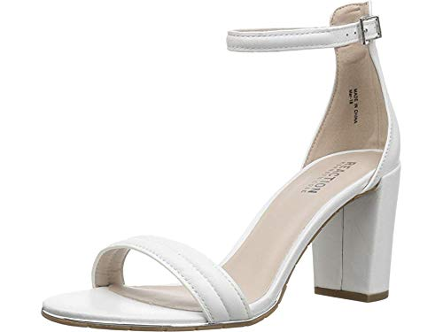 Kenneth Cole REACTION Women's Lolita White Leather 5.5 M US