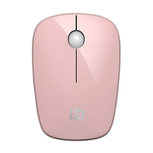 FD i220 Mini Wireless Mouse, 2.4G Cute Slim Optical Travel Mouse with Nano Receiver and Battery for Small Hand, Kid, Girls, Compatible for Notebook, Computer, PC, Laptop, and Chromebook (Pink) (For Mini Pink Laptop Mouse)