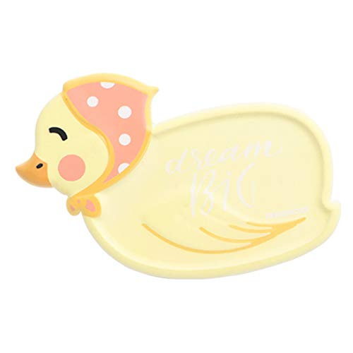 (❤ Lemoning ❤ Fashion Environmental Soft Rubber Animal Soap Tray Soap Mat Anti-Slip PVC (Yellow))