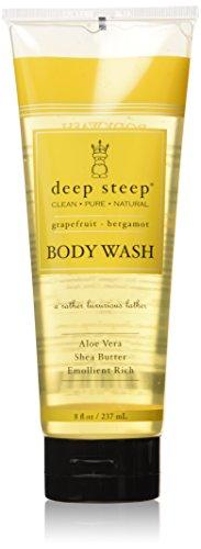 Deep Steep Body Wash, Grapefruit Bergamot , 8 Ounces - Grapefruit Creamy Body Wash