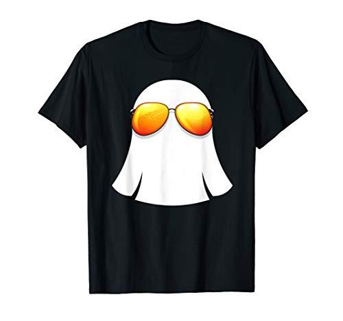 Ghost Sunglasses Shirt Fun Halloween Costume Trick or Treat -