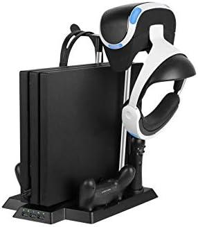 ZZSH Playstation4, Adelgace, Favorable Estación De Carga Vertical, Ventilador, Estante del Almacenaje del Auricular del Picosegundo VR, Interfaz del Cargador para El Regulador Móvil De VR: Amazon.es: Hogar