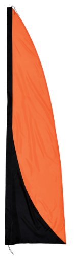 In the Breeze Banner, Orange and Black, 8.5-Feet (Flags Decorative Feather)
