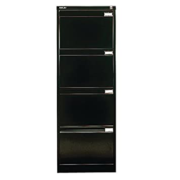 check out 64228 9cab5 Bisley BS4E Filing Cabinet Flush-front 4-Drawer W470xD622xH1321mm Black Ref  BS4E-33