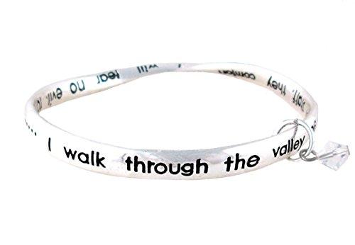 (Psalm 23 Charm Bangle Bracelet (BC162))