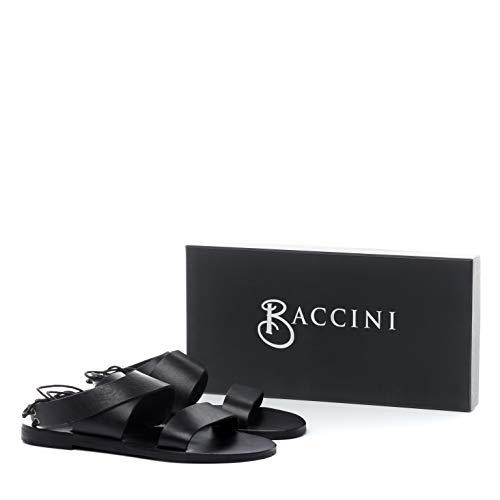 37 Nu Eu Claquette Cuir Femmes Sandale Cara Baccini Noir pieds qwUpBXt7x
