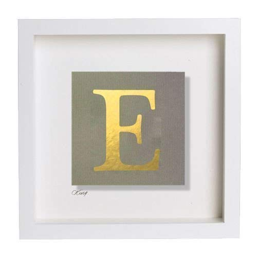 Personalised Gold Silver or Copper Leaf Initial/Capital 'E' 3D Picture  Black/White Box Frame. ALL Letters Avail. Gift Ideas for Christmas, for  Her, Him, Kids, Baby, Weddings & Birthdays: Amazon.co.uk: Handmade