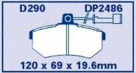 EBC Brakes DP21600 Greenstuff 2000 Series Sport Brake Pad