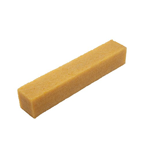 Cleaning Eraser Stick for Abrasive Sanding Belts, 1-1/2' x 1-1/2' x 7-7/8' - Natural Rubber Eraser for Cleaning Sandpaper, Rough Tape, Skateboard Shoes and Sanding Discs
