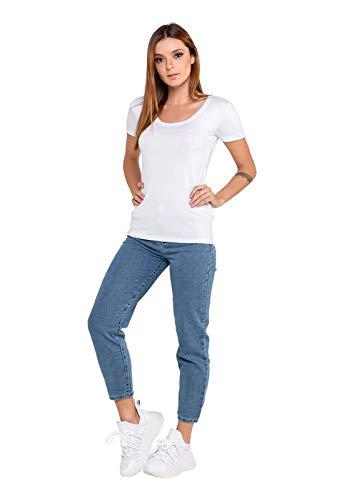 Calça Feminina Mom Jeans 40