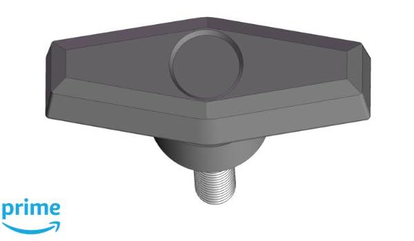 Pack of 10 Innovative Components AN6C1500T521 2.00 T Knob 3//8-16 x 1.50 steel zinc stud black pp