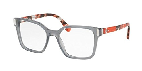 Prada PR05TV Eyeglass Frames TKY1O1-50 - Transparent Grey - Glasses Prada Frames