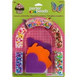 Bulk Buy: Perler Fun Fusion Fuse Bead Activity Kit-Cupcakes & Butterflies (2-Pack)