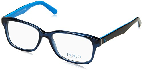 Polo PH2141 Eyeglass Frames 5563-55 - Trasparent Blue - Frames For Men Polo