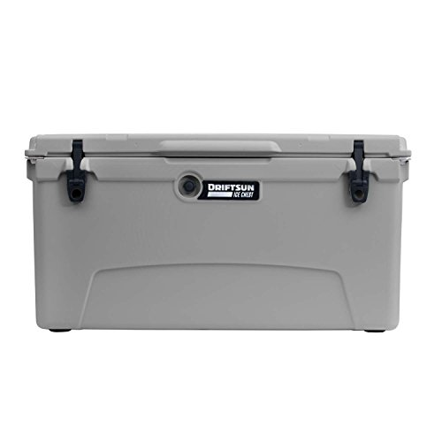 Driftsun 110-Quart Ice Chest, Heavy Duty, High Performance Roto-Molded Commercial Grade Insulated Cooler, Grey