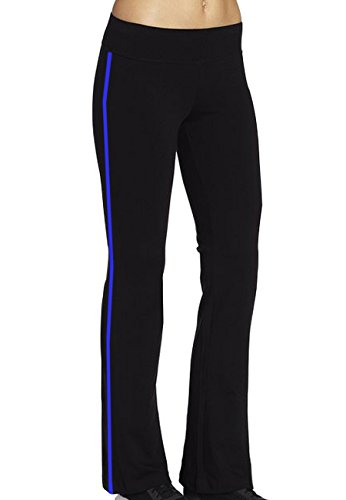 Women's Cotton Yoga Running Pants Slim Boot-cut Tights X-