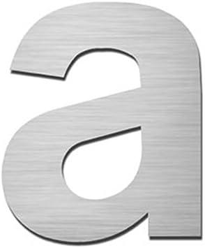 MOCAVI HS10 num/éro de rue en acier inoxydable adh/ésif signal/étique num/éro de maison design hauteur: 5,5-7,5 cm Hausnummer:Buchstabe a num/éro de porte moderne en inox