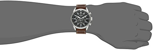 Citizen Mens CA4210-24E Stainless Steel Eco-Drive Watch with Brown Band